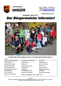Bürgermeisterbrief April 2011